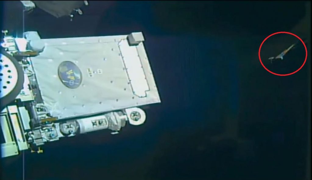 Mystery object seen shadowing the ISS moments before NASA cuts Live Feed