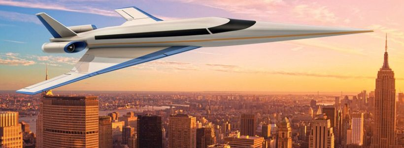 'Son of Concorde' supersonic jet takes to the skies in first test flight