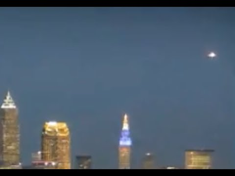 UFO Seen For Several Hours Over Cleveland on Live Feed