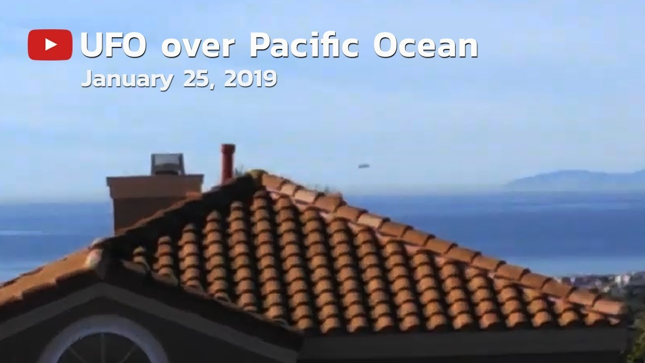 Large UFO Sighting Filmed Over Pacific Ocean – 25th Jan 2018