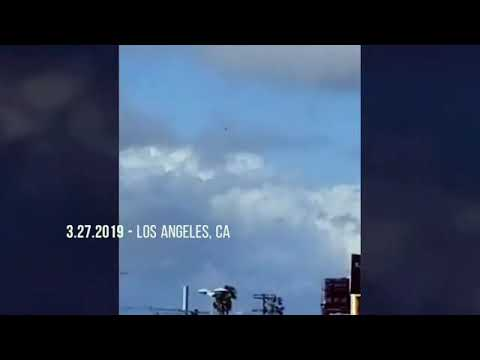 UFO over Los Angeles being watched by helicopters – March 2019