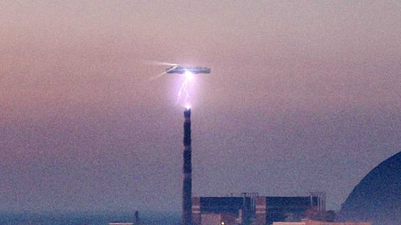 UFO Sighting Filmed hovering over nuclear power plant