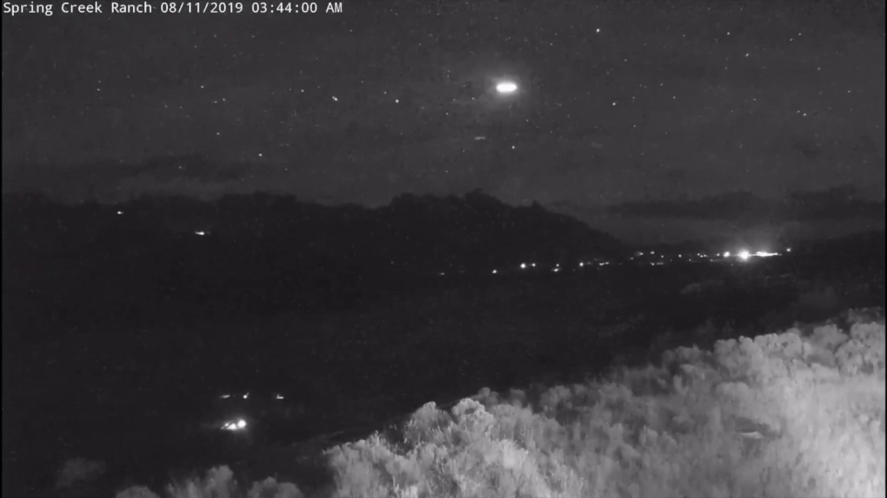Fast UFO Sighting Filmed Over Jackson Hole, Wyoming –  12th August 2019