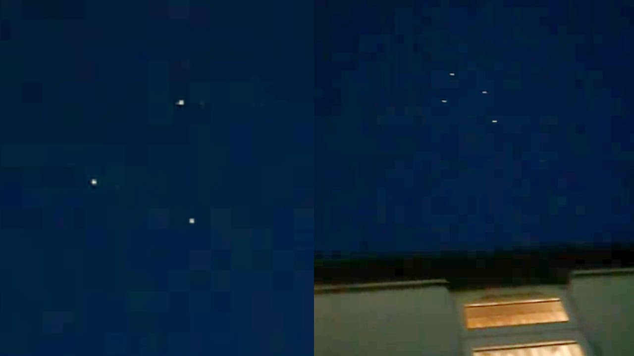 Multiple Flashing UFOs Filmed Over Cheshire, UK – 20th May 2020