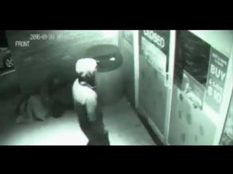 Mysterious man teleports straight THROUGH closed shop door in this creepy footage