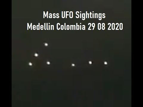 UFO sighting filmed over Medellin, Colombia – 29th August 2020