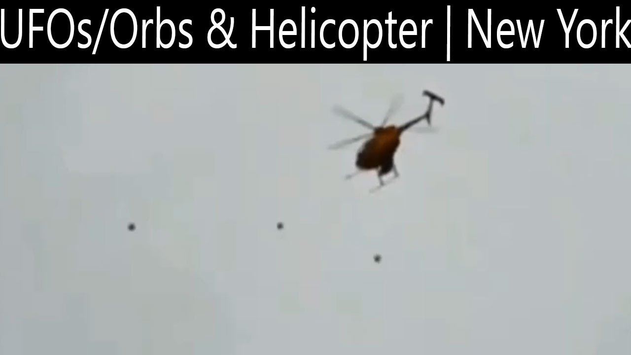 Unknown Objects flying near a helicopter over Marcy, NY – 16th Oct 2020