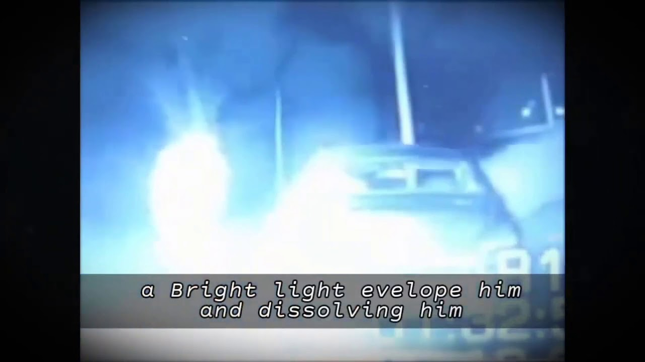 Mysterious Light Engulfs and Dissolves Police Officer