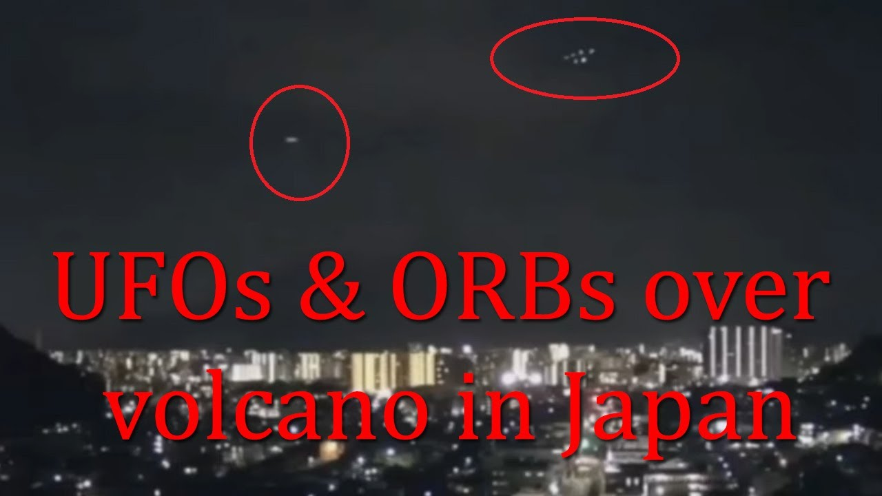 UFO filmed following another UFO in the skies above Japan