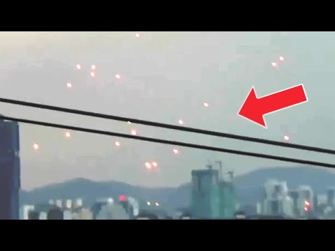 Multiple UFOs spotted hovering in the sky above Malaysia